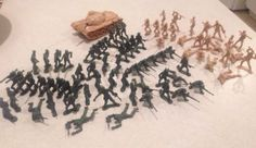 Lot of 75 Vintage Green/Tan Army Men Plastic Soldier Military Action Figures 2.5 - http://hobbies-toys.goshoppins.com/toy-soldiers/lot-of-75-vintage-greentan-army-men-plastic-soldier-military-action-figures-2-5/