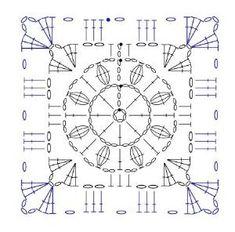 crochet granny squares long vest Pattern free download - Google-søgning