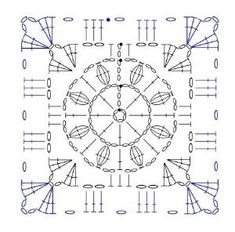 square crochet motif diagram by mvaleria