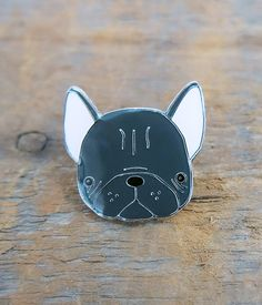 Frenchie Lapel Pin by crywolf on Etsy https://www.etsy.com/listing/259083827/frenchie-lapel-pin
