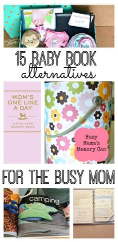 15 baby book alternatives for the busy mom! Easily capture your child's most precious moments.