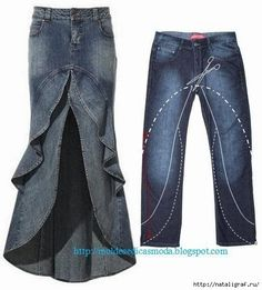 I really like Jeans ! And a lot more I want to sew my own personal Jeans. Next Jeans Sew Along I'm planning to Diy Clothing, Piece Of Clothing, Sewing Clothes, Sewing Jeans, Clothes Crafts, Diy Jeans, Jeans Refashion, Reuse Jeans, Clothes Refashion