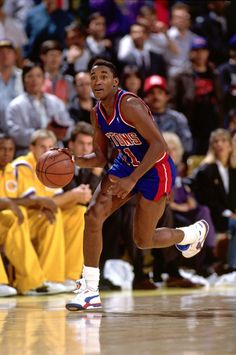 Isiah Thomas, who played for the Detroit Pistons from 1981 to 1994.
