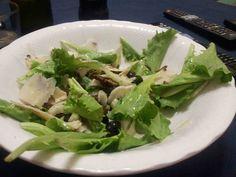 insalata lattughino finocchi funghi e olive