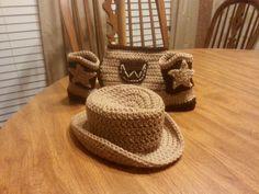 Crocheted Cowboy set