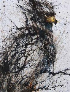 Splatter painted eagle