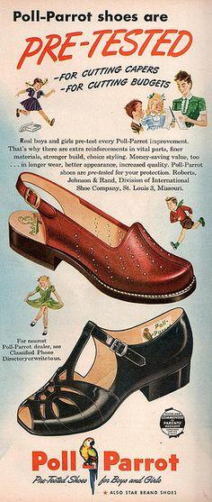 Vintage shoe ad  - Poll Parrot