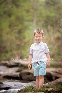 3 year old photography, boy photography, child photography, kid pictures, boy standing in creek, outdoor photography