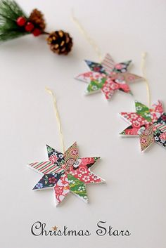 Origami Christmas Star by cafe noHut. Scroll down for the tutorial in English.