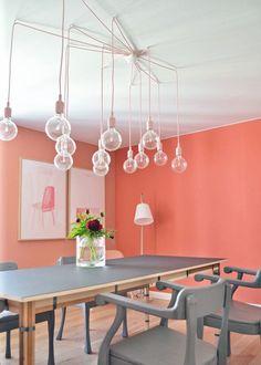 Nouvelle tendance couleur : Orange is the new black - Du corail pour une salle à manger vitaminée - Marie Claire Maison