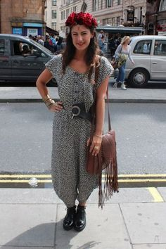 We loved Claudia's street festival style - serious headband envy over here.