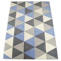 Geometric Rug Blue | New arrivals | Children's Bedroom Accessories for Girls and Boys | ASPACE