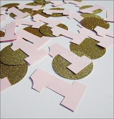 Girl's First Birthday Party Confetti