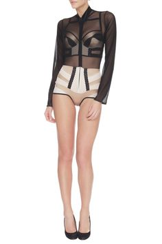 Black Label Onyx Tuxedo #british #designer #lingerie #architecture #nicholedecarle #luxury #fashion #onyx #readytowear #silk #lace #plunge #bra #structure #highwaisted #tuxedo #sheer