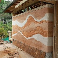 Beautiful patterns in this rammed earth wall. Pavilion Architecture, Futuristic Architecture, Sustainable Architecture, Contemporary Architecture, Architecture Details, Residential Architecture, Rammed Earth Homes, Rammed Earth Wall, Sustainable Building Materials