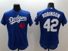 64e3b016d030f Los Angeles Dodgers  42 Jackie Robinson Retired Blue 2016 Flexbase Majestic  Baseball Jersey Basketball Jersey