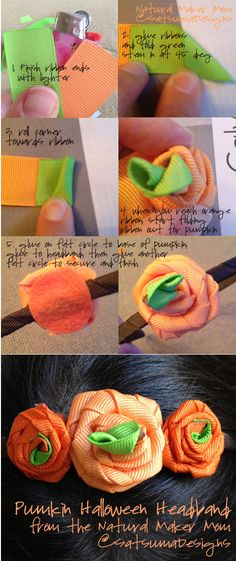 Need a costume fast?! Be a pretty lady in a pumpkin headband - easy and festive. Here's how. #Halloween #accessory