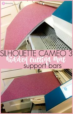 Silhouette Cameo 3 hidden mat supports.
