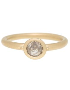 Victoria Cunningham one-of-a-kind rustic diamond ring // contemporary engagement // perfect for stacking