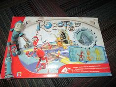 MATTEL ROBOTS MOVIE MOTORIZED BOARD GAME, AGES 6+ 2-4 PLAYERS, GUC READY TO PLAY #MATTEL