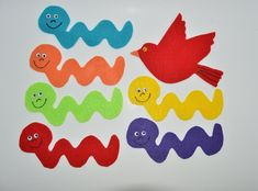 Items similar to Wiggly Worm Flannel Board Story on Etsy Flannel Board Stories, Felt Board Stories, Felt Stories, Flannel Boards, Preschool Apple Activities, Holiday Activities, Children Activities, Worm Crafts, Felt Material