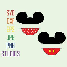 Mickey MouseMinnie MouseMonogram by SVGFONTS on Etsy