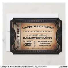 Halloween Costume Party Invitations, Creepy Halloween Party, Halloween Images, First Halloween, Family Halloween, Halloween Cards, Ticket Invitation, Invitation Cards, Birthday Invitations