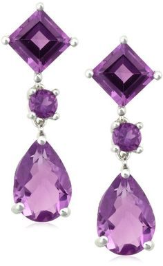 Pear, Round, and Square cut pale amethysts