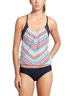Cute tankini top for active beach/lake? Moxie Blousy Tankini | Athleta