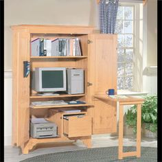 1000 images about office on pinterest computer armoire armoires and home office - Computer armoires for small spaces property ...