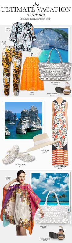 Vacation Wardrobe, Summer, Summer Time, Holiday Wardrobe