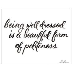 I pinned this Beautiful Politeness Print from the Inslee by Design event at Joss and Main!
