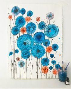Finding Creative Inspiration with Lisa Congdon Lisa Congdon_blue illustration Abstract Watercolor, Watercolor And Ink, Watercolor Flowers, Watercolor Paintings, Watercolors, Kunstjournal Inspiration, Art Journal Inspiration, Creative Inspiration, Art Floral