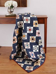 Ohio Star Quilt - Free Quilt Patterns Using Fat Quarters