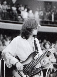 John Paul Jones on stage at the Swing Auditorium in California, Rock N Roll Music, Rock And Roll, Led Zeppelin, Great Bands, Cool Bands, Anaheim Convention Center, Bass Guitar Lessons, Guitar Tips, No Quarter