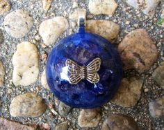 Butterfly Orgone Energy Pendant by TwoChez on Etsy, $18.00