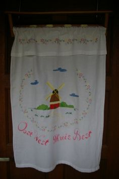Overdoek voor handdoekenrekje.