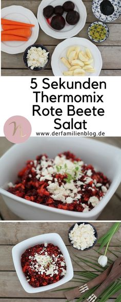 Beetroot salad in 5 seconds! Thanks to Thermomix®️️️️️️️!- Beetroot salad in 5 seconds! Thanks to Thermomix®️️️️️️️! Salad Recipes Healthy Lunch, Salad Recipes For Dinner, Chicken Salad Recipes, Easy Salads, Healthy Salad Recipes, Healthy Meals, Healthy Food, Salads For A Crowd, Food For A Crowd
