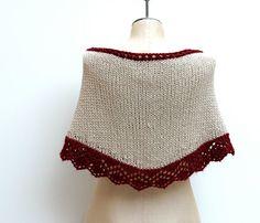 Ready to Ship: The Dahlia Fichu  Hand Knitted Merino by AmyLaRoux