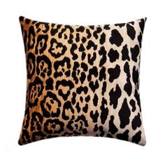 Fabric Designer - Braemore Fabric Name - Jamil Fabric Color - Natural Colors - a cotton velvet leopard print with black spots on an amber, Euro Shams, Animal Pillows, Cotton Velvet, Pillow Forms, Home Decor Fabric, Fabric Crafts, Velvet Pillows, Handmade Decorations, Decorative Throw Pillows