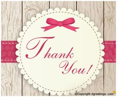 Thank you card for your friends and family.