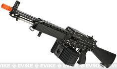 G&P Full Metal Weathered Navy Mk23 Airsoft SAW Machine Gun AEG w/ Box Magazine