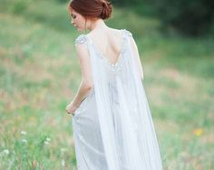 Maia // Free fitted silk wedding dress by CarouselFashion on Etsy
