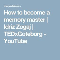 How to become a memory master   Idriz Zogaj   TEDxGoteborg - YouTube