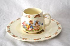 Bunnykins Royal Doulton English Fine China Plate and Cup.
