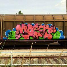 MOST JBCB CREW  @thatsallmost  _______________________ #madstylers #graffiti #graff  #style #colorful #fr8 #stylewriting #summer #sprayart #graffitiart
