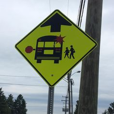 Wait... why is the bus exploding? #signs #sign #weirdsigns #trafficsign