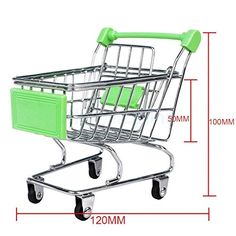 Sangdo Mini Shopping Cart Storage Desktop Organizer Phone Pen Holder Kids Toy Green >>> Want to know more, click on the image.
