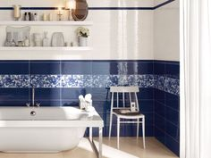 Piastrelle Blu Per Bagno : Fantastiche immagini su piastrelle blu bathroom subway tiles