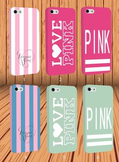 Pink Victoria's Secret Underwear Love for Apple iPhone Samsung Hard Case Cover #NONGCHAO
